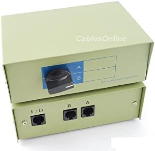 Metal CablesOnline 2-Way A//B DB25 Parallel Printer Rotary Switch Box SB-001