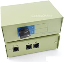 CablesOnline 2-Way A/B RJ45 Metal Rotary Manual Switch Box (SB-034)