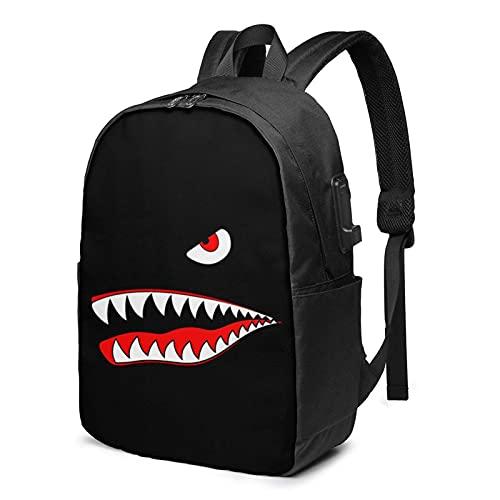 XCNGG Blood Sh_Ark Bookpacks 3D-gedruckte Mode Unisex Travel Daypack Schultasche Laptop Rucksack Schulrucksack Travel Daypack für Jugendliche Erwachsene