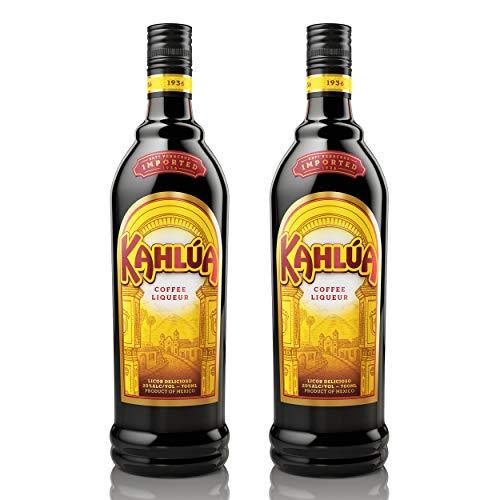 Kahlùa Kaffeelikör 2er Set, mexikanischer Likör, Spirituose, Alkohol, Flasche, 20%, 2x700 ml, 70317000