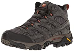 M Select DRY seals out water and lets moisture escape so you stay dry when you're on the move Performance suede leather and mesh upper Bellows, closed-cell foam tongue keeps moisture and debris out. Merrell air cushion in the heel absorbs shock and a...