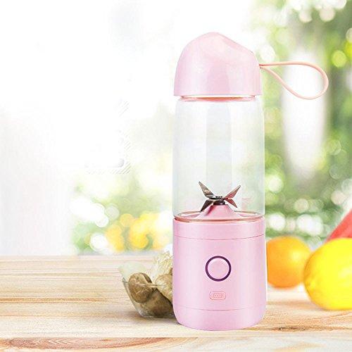 WESEASON Weiblicher Tragbarer Saftpresse-Küchen-Reise-Krankenhaus USB Drückte Frucht-Maschinen-Wieder Aufladbarer Saft-Schale Älteres Kind Und Schwangere Frauen-Saft-Schale