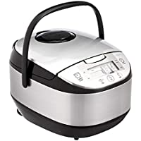 AmazonBasics 10-Cup Uncooked Multi-Functional Rice Cooker (20-Cup Cooked)