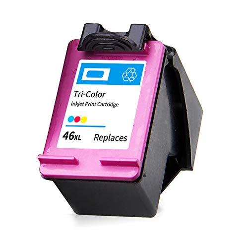 SXCD Cartucho de Tinta 46xl, reemplazo de Alto Rendimiento para HP DeskJet Ink Advantage 2020HC 2029 2520HC 2529 Ultra 4729 Cartuchos de Tinta de Impresora Negro y Tri-co 1 Tri-Color