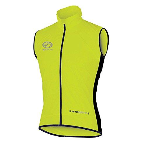 OPTIMUM Chaleco de Ciclismo Nitebrite para Hombre, Verde Fluro, Mediano