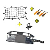 "Mockins Hitch Mount Cargo Carrier | The 60"" X 20' X 6"" Steel Cargo Basket Has A Hauling Weight Capacity of 500 Lbs and A Folding Arm to Preserve Space When Not in Use"