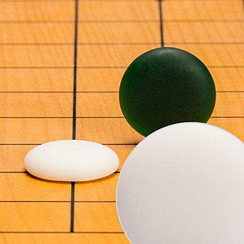 Yellow Mountain Imports Yunzi Single Convex Go Game Stones Set - 21.5-Millimeter (Size 3)