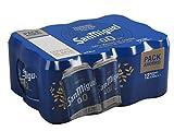 San Miguel 0,0 Cerveza Pils Dorada, 0% Volumen de Alcohol - Pack de 12 x 33 cl
