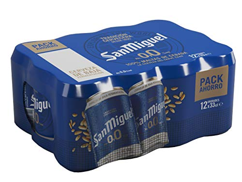 San Miguel 0.0% Alkoholfrei Bier (Pack 36 Dosen x 330ml) bier geschenk, biere der welt, bier set, budweiser bier, geschenk set, geschenke für männer, höhle der löwen produkte