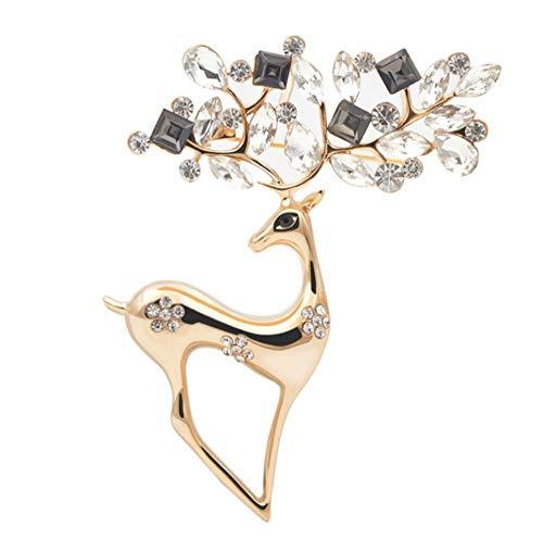 Diozet Broschen,Strass Hirsch Broschen, 2 Farben erhältlich für FrauenPins Mantel Corsage Fashion Jewelry AG