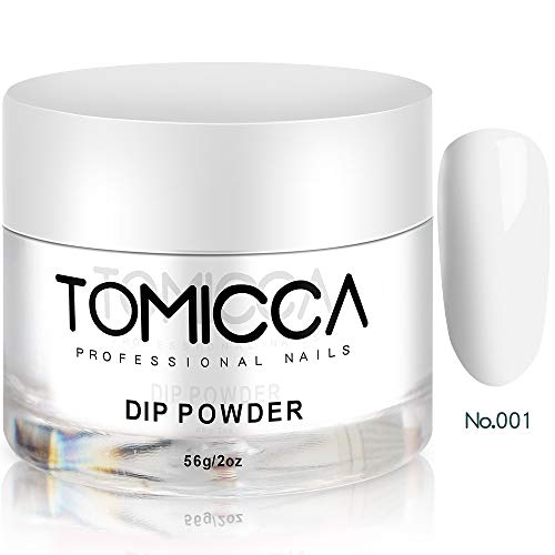 Tomicca French Manicure Nail Dipping Powder, White Colours Weiße Farben, 2 oz,No UV/LED Cure, Dip...