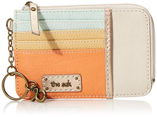 The Sak Iris Leather Card Wallet, Guava Block