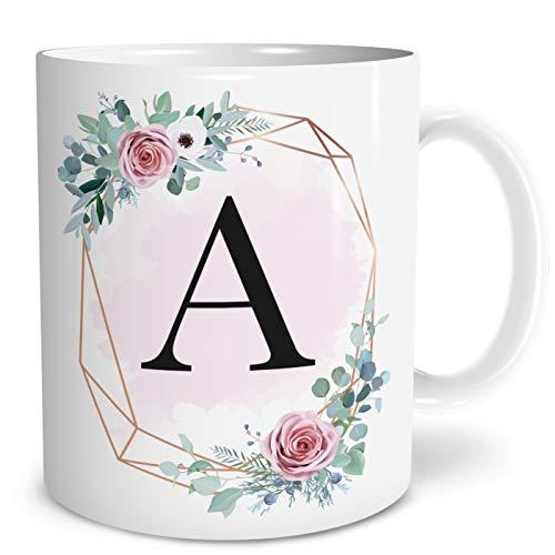 OWLBOOK Buchstaben Große Kaffee-Tasse mit Spruch im Geschenkkarton Geschenke Geschenkideen für Frauen zum GeburtstagHochzeitstag