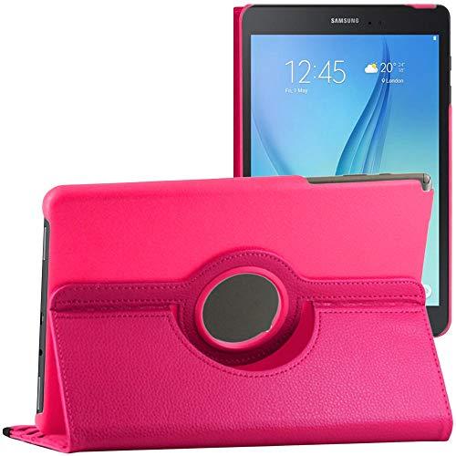 ebestStar - Funda Compatible con Samsung Galaxy Tab A 9.7 T550 / S Pen P550 Carcasa Cuero PU, Giratoria 360 Grados, Función de Soporte + Lápiz, Rosa [Aparato: 242.5 x 166.8 x 7.5mm, 9.7'']