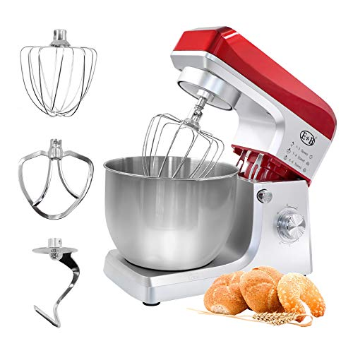 Snowtaros Stand Mixer, 7.5QT Tilt-Head Dough Mixer with Large Stainless Steel Bowl, Electric Mixer Household Kitchen Aid with Splash Guard, Dough Hook, Wire Whip & Mixing Beater