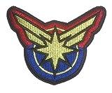 Captain Marvel Burst Logo Embroidered 3