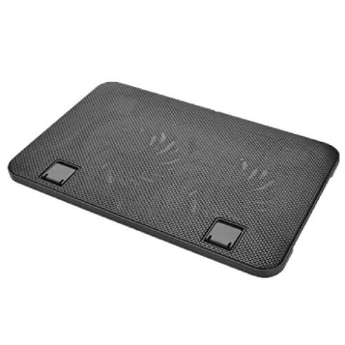 Base Portatil Base Refrigeradora Laptop Cooling Pad ventiladores de 140mm Hasta 17,3 pulgadas pesada refrigerador portátil Dual puertos USB 2.0 del ordenador portátil soporte ajustable 2 ventiladores