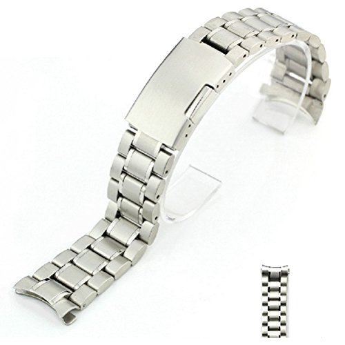 Pixnor 22mm curvato fine solido acciaio inossidabile Bracciale Watch Band...