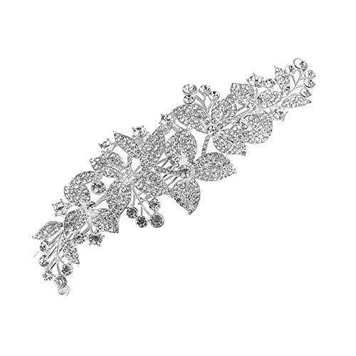 Beeria - Tiara con peinetas para novia, con cristales de estrás, accesorios...