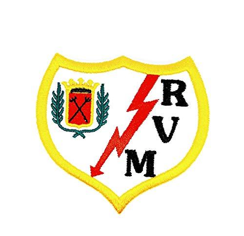 Gemelolandia | Parche Termoadhesivo Rayo Vallecano 7x6,5cm | Muy Adherentes | Patch Stickers Para Decorar Tu Ropa | Fáciles de Poner