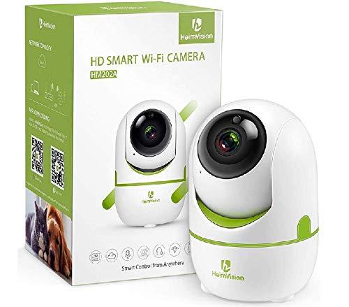 HeimVision ネットワークカメラ 1080P 200万画素 防犯カメラ ベビーモニター 動体検知自動追跡 暗視機能 警...
