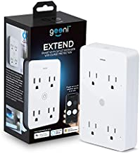 Geeni Smart Wi-Fi 4 Outlet Plug with Surge Protection, – No Hub Required – Compatible with Alexa, Google Home, White – 1-Pack