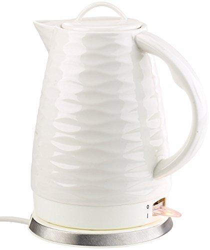 Rosenstein & Söhne Cerámica calentador de agua: Hervidor de porcelana WSK-270.rtr, 1,7...