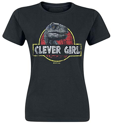 Jurassic Park Clever Girl Donna T-Shirt Nero S 100% Cotone Regular
