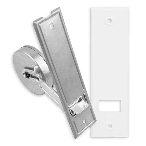 DIWARO® Getriebe Gurtwickler | Lochabstand 165 mm | für 10-12 m Gurt | geeignet für 16-23 mm Rollladengurt | weiß