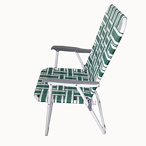 Chaise d'association, Chaise Pliante pour Le Camping en Plein air, Coffre de Plage Portable avec Dossier, Bureau tissé Freezeituhl, largement utilisé dans Les Restaurants, Le Camping et Le Bureau