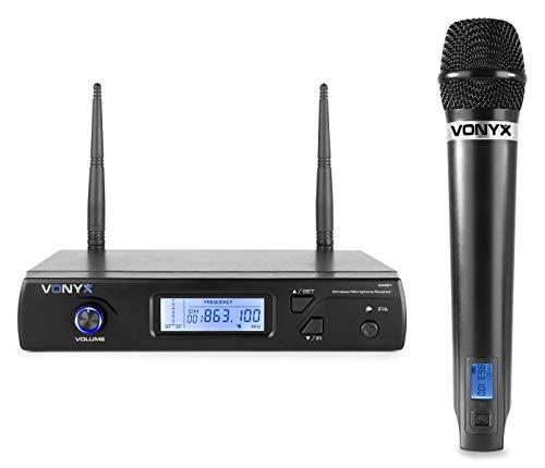 Vonyx WM61 Draadloze Microfoon en Ontvanger - 16 Kanaals UHF
