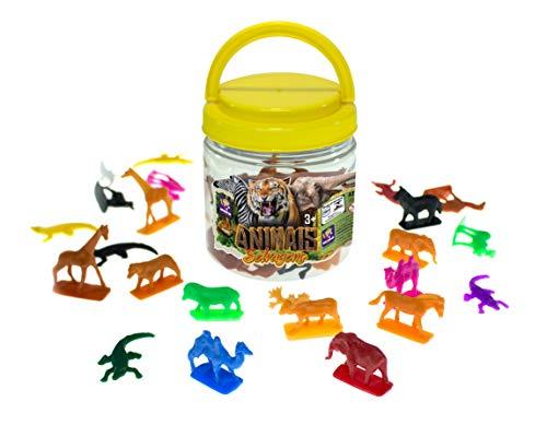 Miniaturas Animais Selvagens, Mimo, Pote com 50 Peças