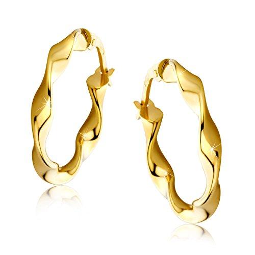 Orovi Damen-Creolen Ohrringe GelbGold Ohrringe 9Karat (375) Ohr-Schmuck