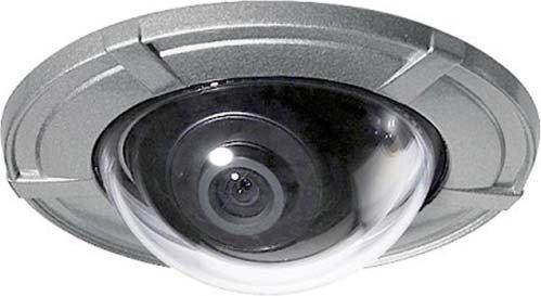 Video-Sprechanlagen Minidome-Farbkamera zum Frontplatteneinbau (Briefkasten, Klingeltableaus etc.), wetterfest nach Schutzart IP66