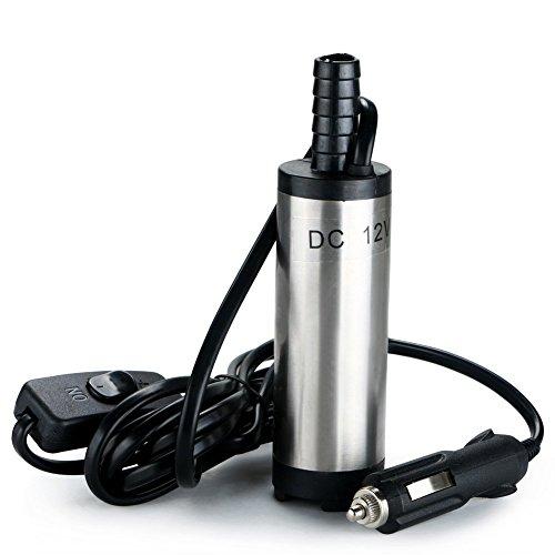 Chuckchi Tauchpumpe, Gleichstrom 12V, 38mm, Übertragung von Wasser, Öl, Diesel, Kraftstoff, Zigarettenanzünder-Stecker