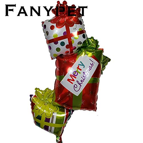 Amazing Deal Xucus 50pcs Merry Christmas Balloons Foil Helium Balloon Inflatable Christmas Decoratio...