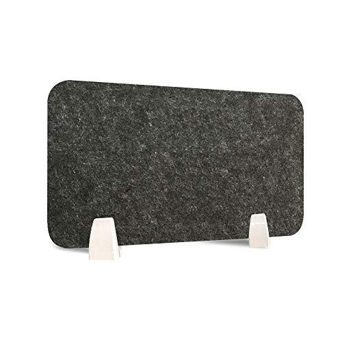 AHMI Schreibtisch Trennwand Niesschutz Teiler Spucken Desktop Datenschutzbereich mit 2 Klemmhalterung PET Clamp Grau Shields 11.8X 31,8 Inches