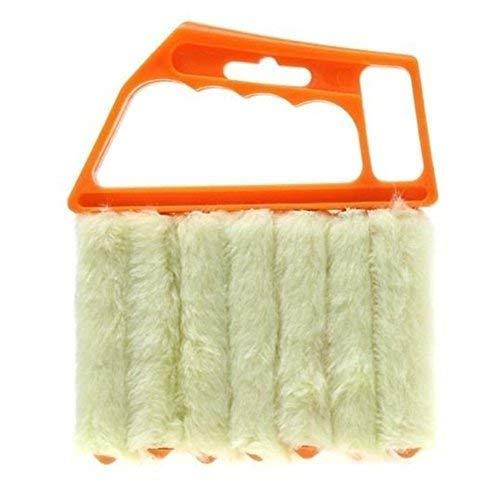 ALIXIN-CP030 Accessoire de nettoyage pour stores,accessoire de nettoyage manuel pour stores, nettoyeur de volets,brosse de nettoyage des vénitiens, nettoyeur de climatiseur de fenêtre(orange)