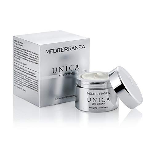 Mediterranea - Crema Viso Giorno Antiage - Unica Lux Cream - Trattamento Viso Illuminante e Ringiovanente - Mantiene la Pelle Tonica e Idratata - Effetto Antiossidante per una Pelle Luminosa - 50 ml