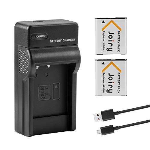 2 X NP-BN1 Batería de Repuesto y Cargador Compatible con Sony Cyber-Shot DSC-QX10 DSC-QX30 DSC-QX100 DSC-TF1 DSC-TX10 DSC-TX20 DSC-TX30 DSC-W530 DSC-W570 DSC-W650 DSC-W800 DSC-W830 Digital Cameras