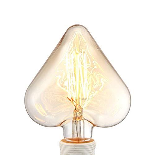 Bombilla de luz Edison Bombilla retro Luz de tungsteno Bombilla de fuente de luz antigua creativa Bombilla E27 Tornillo Lámpara LED de ahorro de energía súper brillante