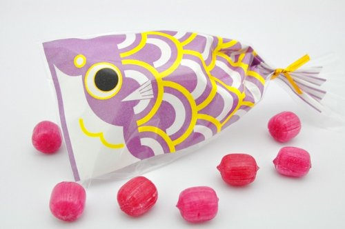 プチ京鯉のぼり 2ケース 100袋入り 紫(ブルーベリー)