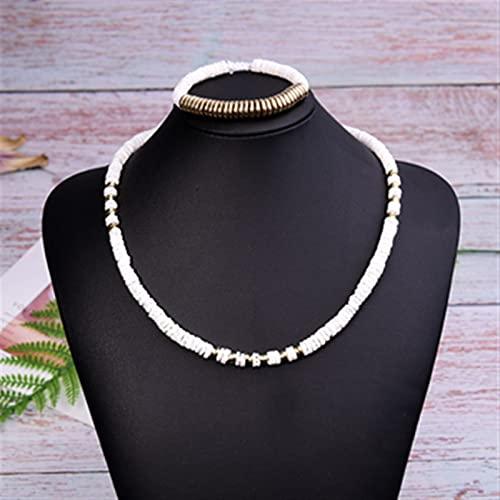 ZPEE Bisuteria Mujer Cáscara Natural Boho Collar Pulsera Joyas Setfemme Gargantilla Collar Plata Mujer