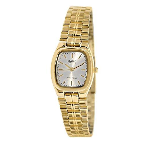 Casio dames LTP1169N-7A goud roestvrij staal Quartz horloge met zilveren wijzerplaat