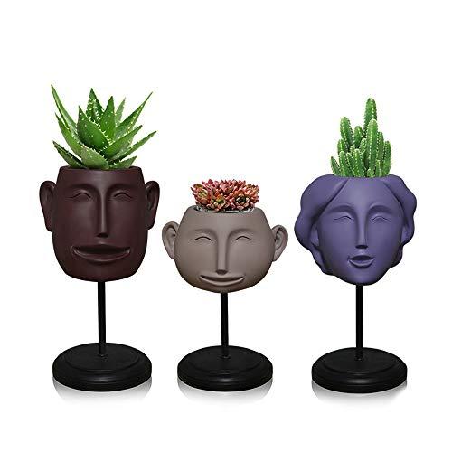 VSander Smiley-Gesicht Ornamente Aufbewahrungsbox Lagerung Einfache Vase Nordic Kreative Kunsthand Harz Handwerk Wohnkultur Geschenke 3 / Sätze