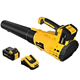 AchiForce Cordless Leaf Blower, Variable Speed Leaf Blower with 20 V 4.0 Ah Rechargeable Battery and Quick Charger, for Garage, Garden and Yard, Leaves & Dust Cleaning
