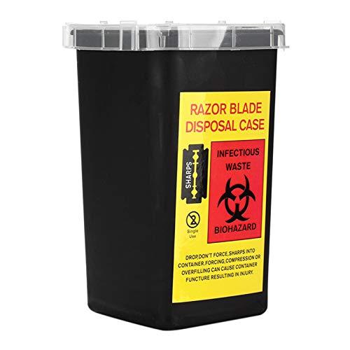 F Fityle Mini contenedor portátil de objetos afilados, contenedor de eliminación de agujas biopeligrosas para agujas de tatuaje, agujas desechables, Pitillas