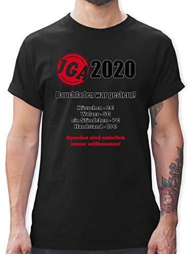 JGA Junggesellenabschied Männer - Bauchladen war gestern! 2020 - XL - Schwarz - JGA männer - L190 - Tshirt Herren und Männer T-Shirts