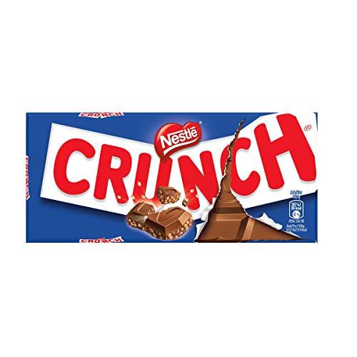 Nestlé CRUNCH - Tableta de Chocolate con Leche y Cereales - Tableta de Chocolate 8x100g