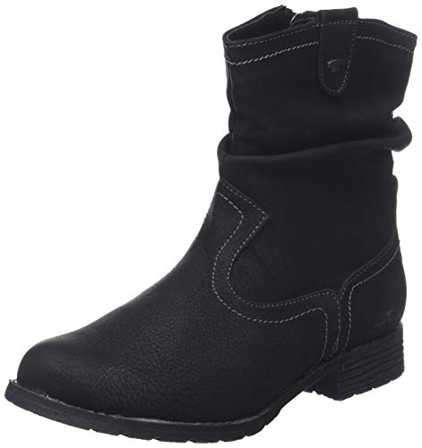 TOM TAILOR Damen 585200330 Stiefeletten, Schwarz (Black 00001), 37 EU